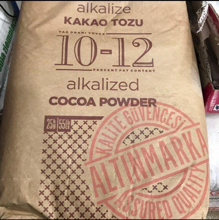فروش عمده پودر کاکائو در بسته های 25 کیلویی